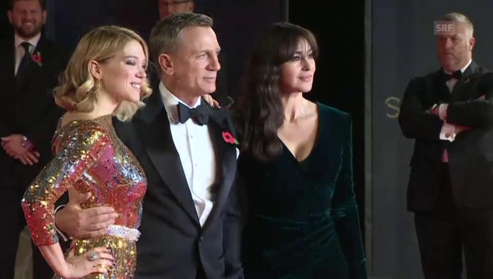 Daniel Craig mit Monica Bellucci und Léa Seydoux