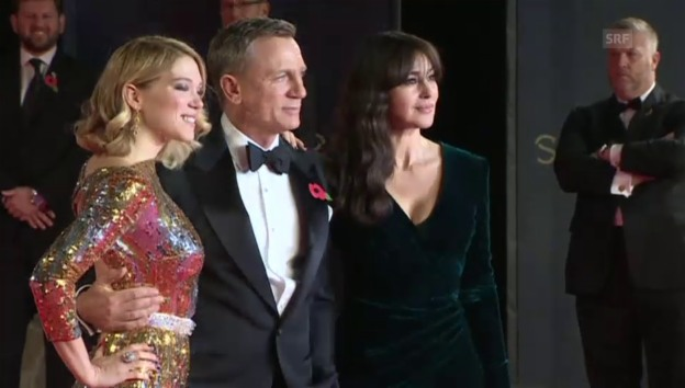 Video «Daniel Craig mit Monica Bellucci und Léa Seydoux» abspielen