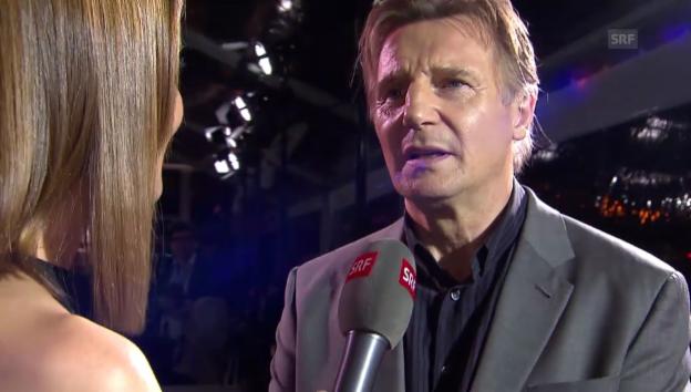 Video «Liam Neeson im Interview mit Annina Frey» abspielen