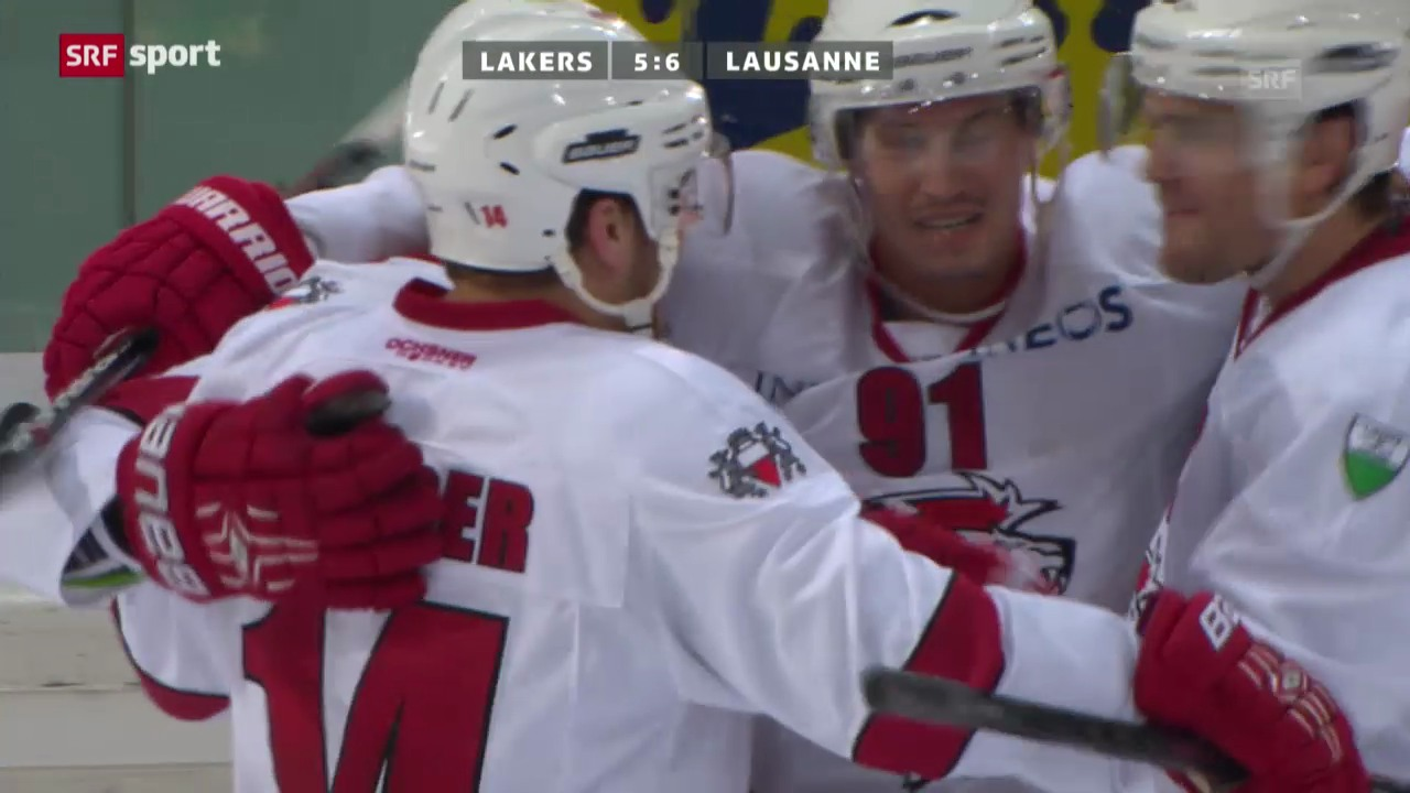 Eishockey: Lakers - Lausanne