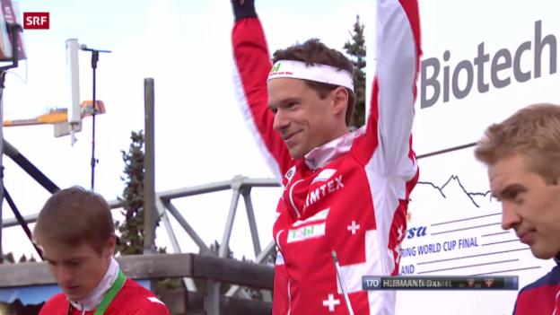 Video «OL: Weltcup-Final in Arosa, Mitteldistanz» abspielen