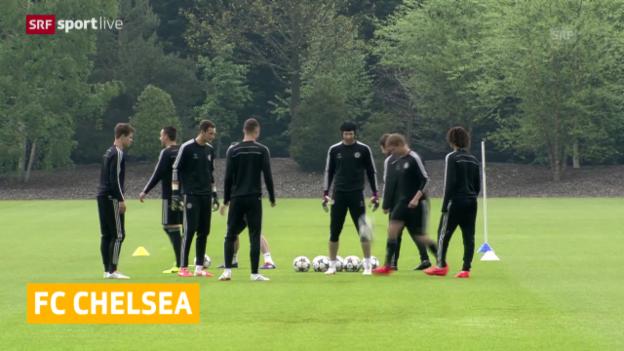 Video «Fussball: Petr Cech bei Chelsea zurück im Training» abspielen