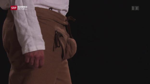 Video «Männermode: Vom praktischen Hosenlatz zum protzigen Blickfang» abspielen