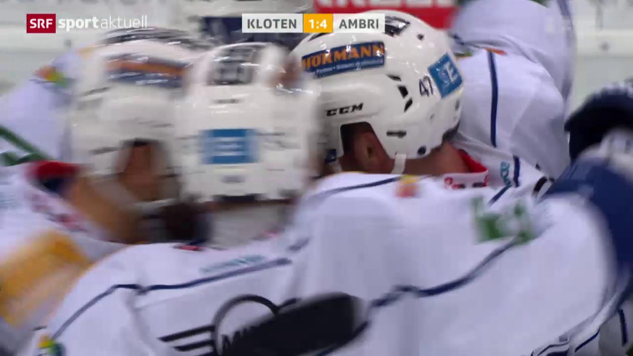 Eishockey: NLA, Kloten - Ambri