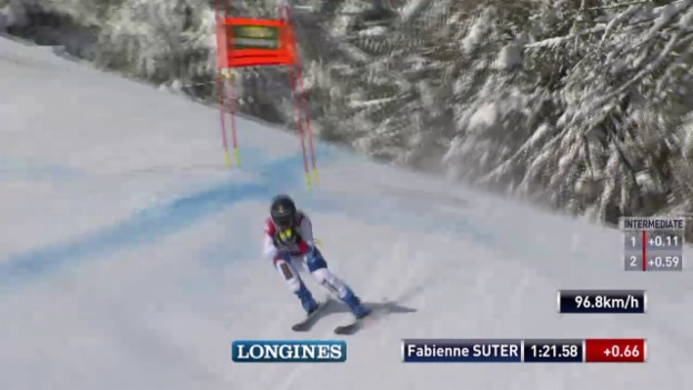 Video «Ski Alpin: Abfahrt Cortina, Fahrt Suter» abspielen