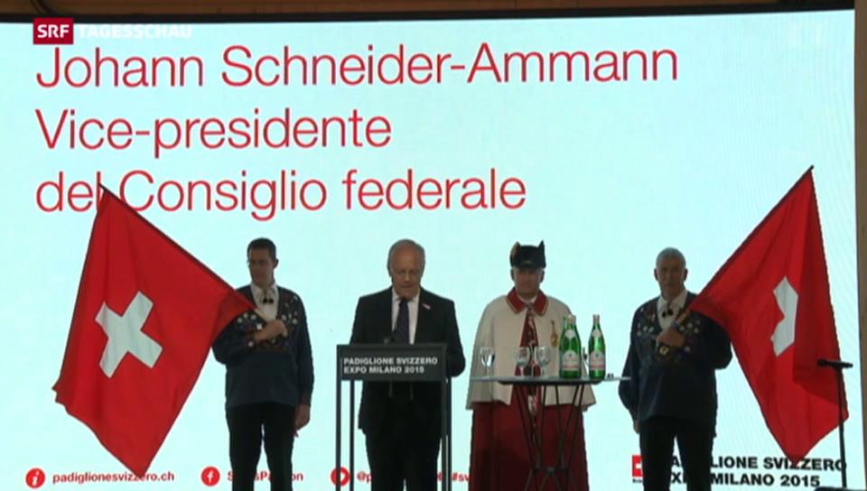 Johann Schneider-Ammann an der EXPO Mailand