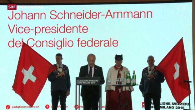 Video «Johann Schneider-Ammann an der EXPO Mailand» abspielen