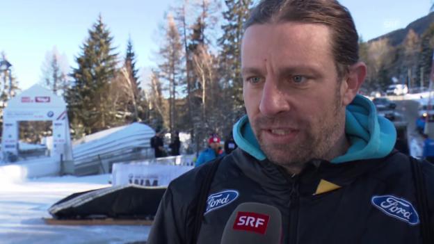 Video «Nationaltrainer Wolfgang Stampfer zu den Schweizer Bobpiloten» abspielen