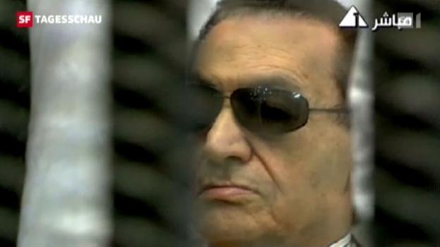 Video «Hosni Mubarak muss die Verantwortung für den Tod von über 800 Demonstranten übernehmen. (Tagesschau, 02.06.12, 19:30 Uhr)» abspielen