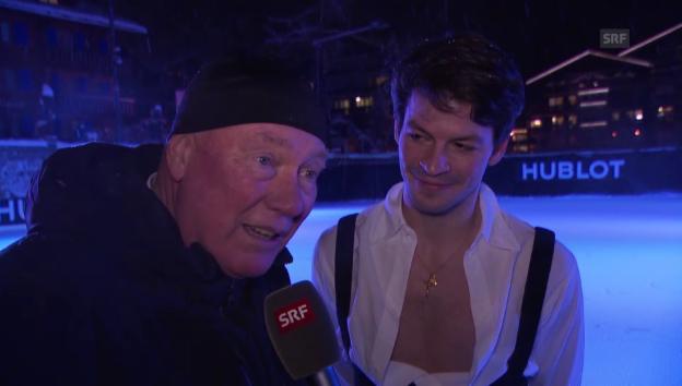 Video «Jean-Claude Bivers Liebeserklärung an Stéphane Lambiel» abspielen