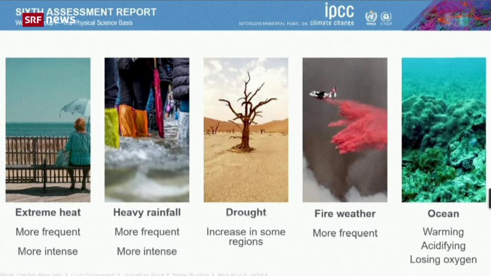 Pressekonferenz zum neusten IPCC-Bericht