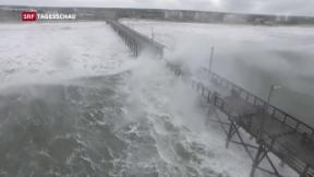 Video ««Florence ist an Land» und Taifun «Mangkhut»» abspielen