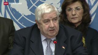 Video «Syrien-Konferenz in Genf beendet » abspielen