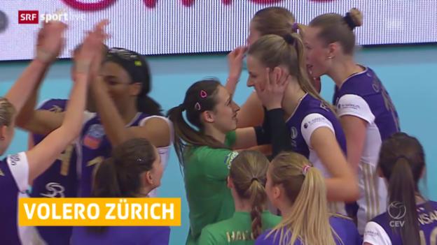 Video «Volero Zürich besiegt Lokomotive Baku mit 3:1» abspielen