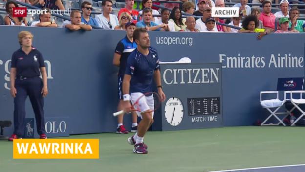 Video «Tennis: Wawrinka muss in Metz Forfait geben» abspielen