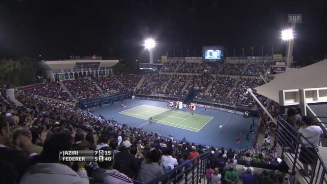 Tennis: ATP Dubai, Federer-Jaziri