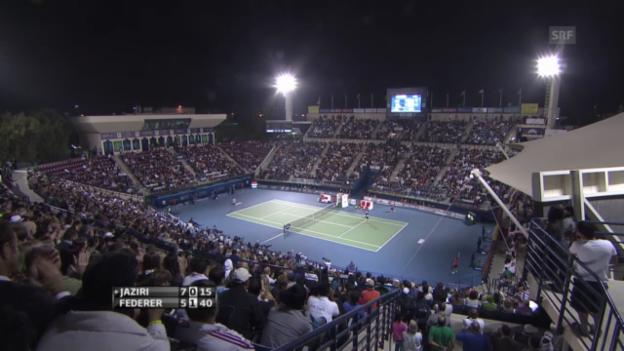 Video «Tennis: ATP Dubai, Federer-Jaziri» abspielen