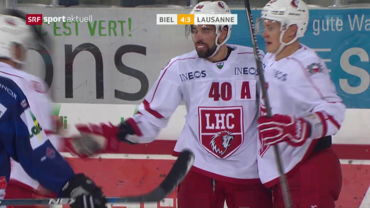 Biel gewinnt Verfolgerduell gegen Lausanne