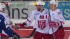 Video «Biel gewinnt Verfolgerduell gegen Lausanne» abspielen