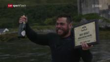 Video «Extrem-Schwimmer Edgley seit 74 Tagen auf See» abspielen