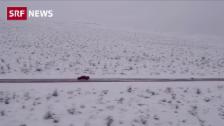 Link öffnet eine Lightbox. Video Schnee von Los Angeles bis Arizona abspielen