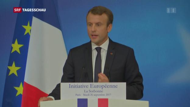 Video «Macron hält Europa-Grundsatzrede» abspielen