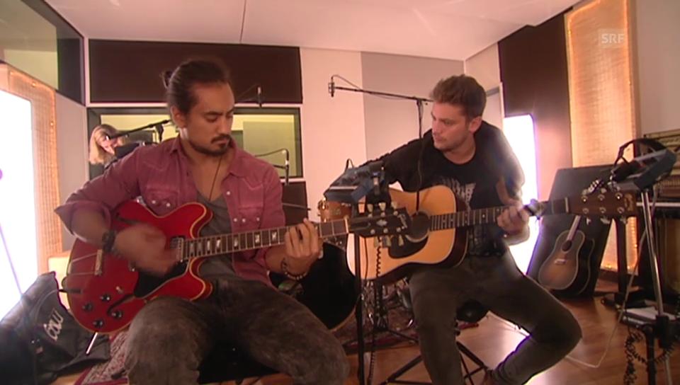 Bastian Baker und Eric Blum spielen zusammen und schwärmen voneinander