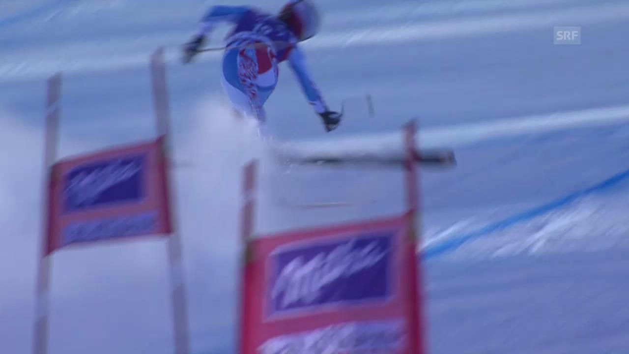 Ski Alpin: Abfahrt Frauen Val d'Isère, Sturz von Marchand-Arvier in Val d'Isère («sportlive», 21.12.2013)