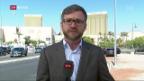 Video «Live-Schaltung zu Peter Düggeli in Las Vegas» abspielen