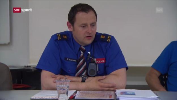 Video «ETF: Interview mit Biels Polizeichef Fabian Sauvain («sportaktuell»)» abspielen