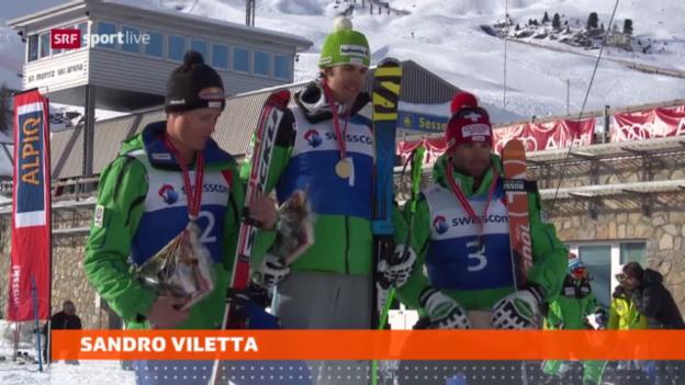 Video «Schweizer Meisterschaften Super-G» abspielen