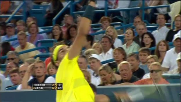 Video «Rafael Nadals Matchball gegen Ben Becker» abspielen