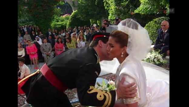 Video «10. Juni 1993: Hochzeit von Rania und Prinz Abdullah» abspielen