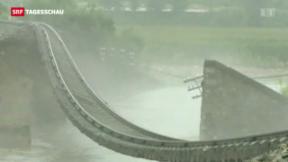 Video «Schwere Überschwemmungen in Fernen Osten» abspielen