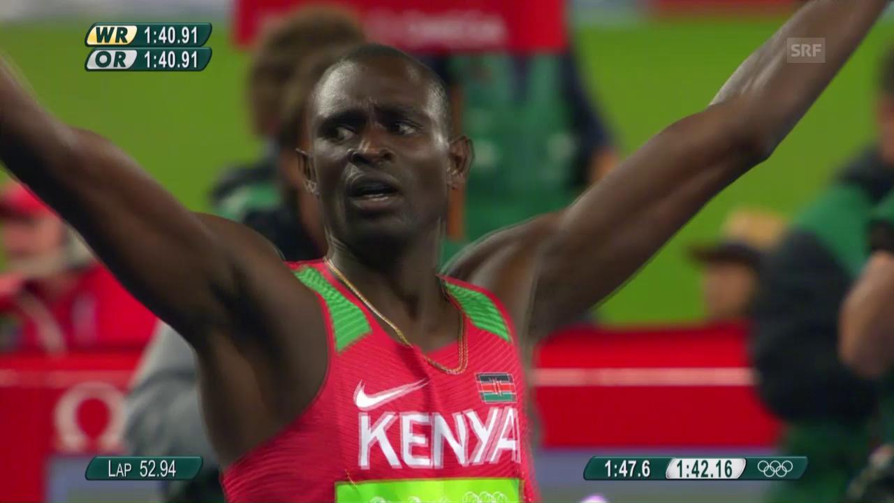 800-m-Final mit Rudisha