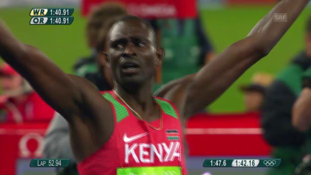 Video «800-m-Final mit Rudisha» abspielen