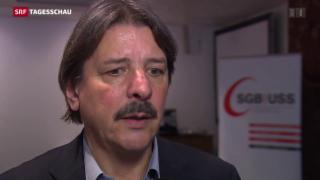 Video «Gewerkschaften gegen Job-Abbau» abspielen