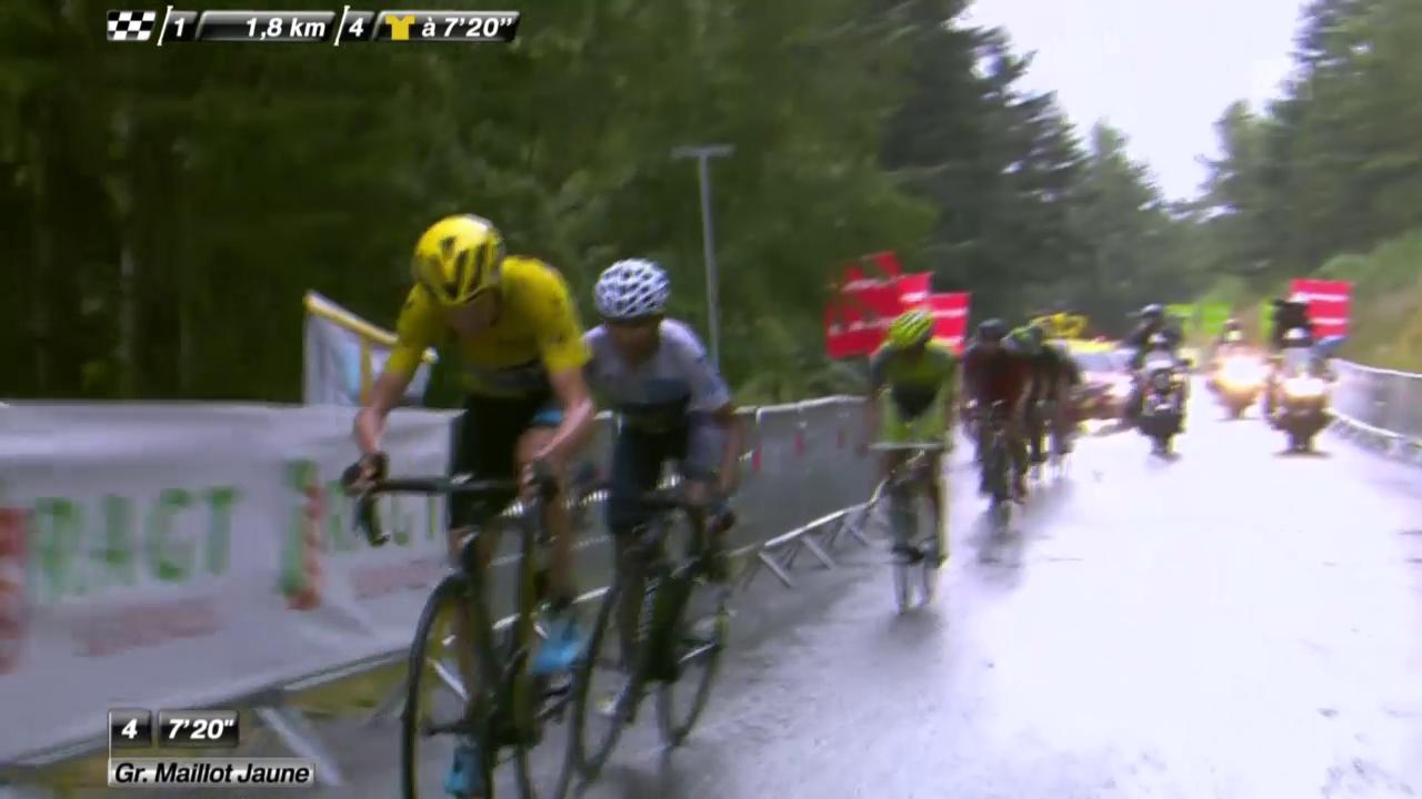 Rad: Tour de France, 12. Etappe, Angriff Froome