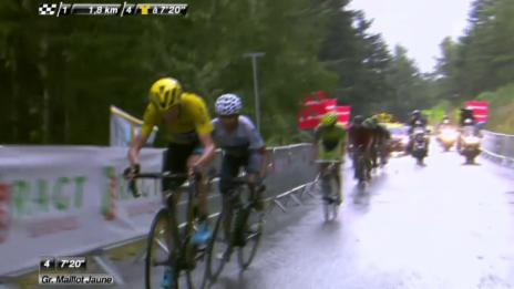Video «Rad: Tour de France, 12. Etappe, Angriff Froome» abspielen