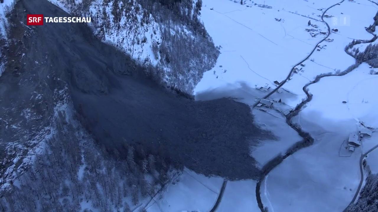 Felssturz im österreichischen Vals