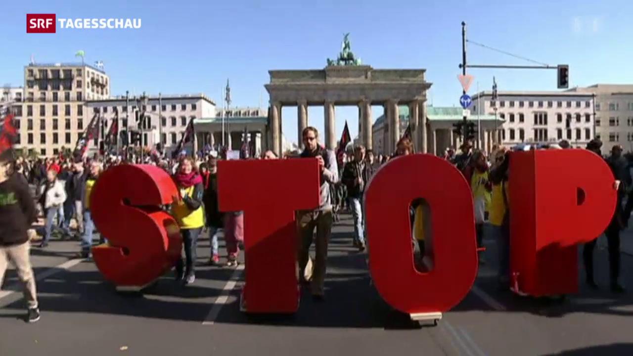 Proteste gegen Freihandelsabkommen