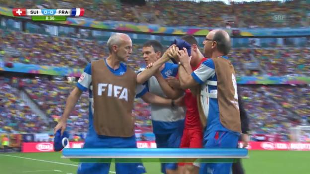 Video «Von Bergens frühes Out gegen Frankreich» abspielen