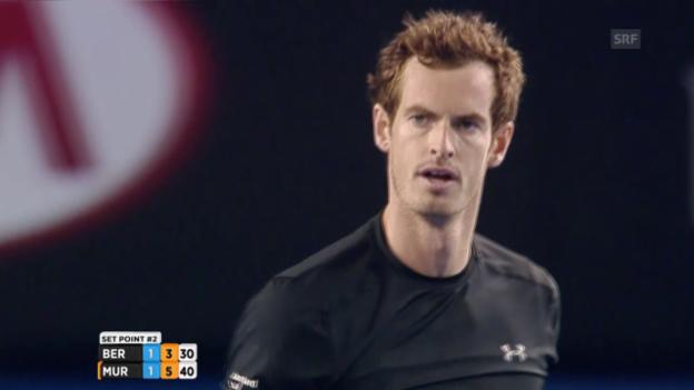 Video «Murray gewinnt den 3. Satz» abspielen