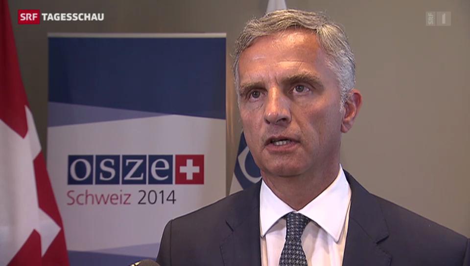 Bundespräsident Didier Burkhalter im Interview zur Ukraine