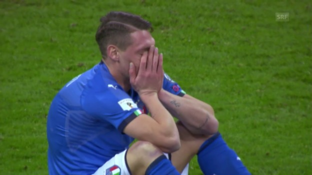 Video «Italien scheitert an Schweden und fährt nicht zur WM» abspielen