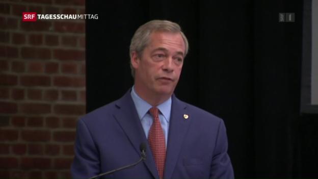 Video «Farage tritt zurück» abspielen