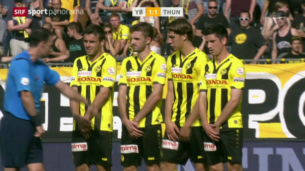 Fussball: Super League, YB - Thun