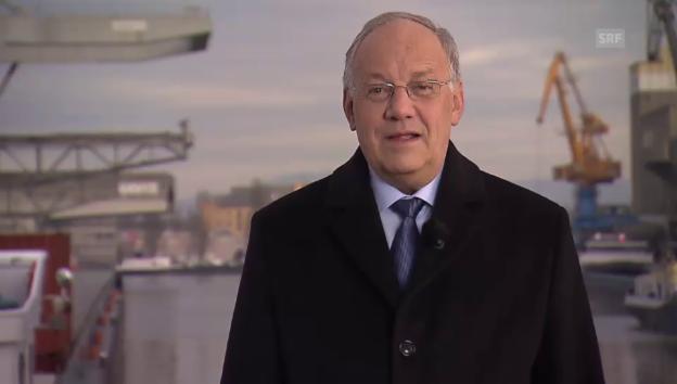 Video «Bundespräsident Schneider-Ammann: «Kein Land ist wettbwerbsfähiger»» abspielen