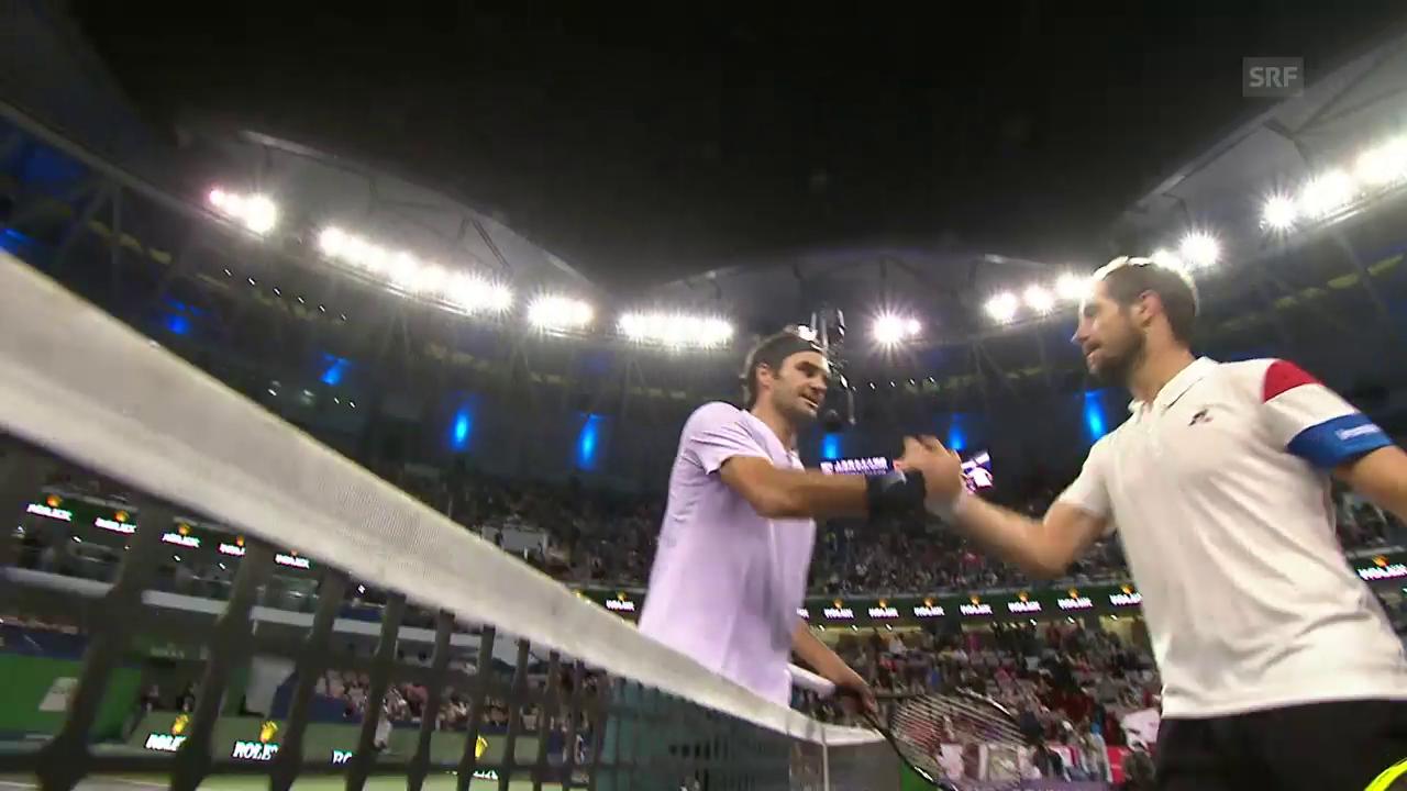 Gasquet muss Federer gratulieren