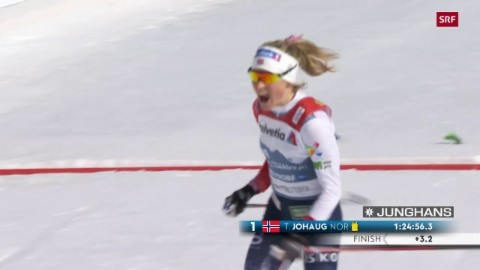 Ils davos meters da Therese Johaug